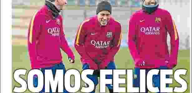"""Segundo """"Sport"""", Luis Enrique não obriga trio de ataque a seguir orientações em campo - Reprodução"""