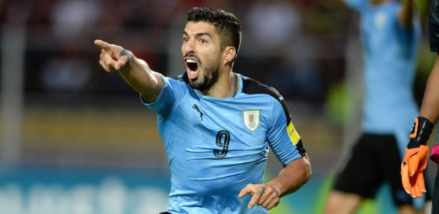 Suárez está com a seleção uruguaia para disputa das Eliminatórias para a Copa de 2018