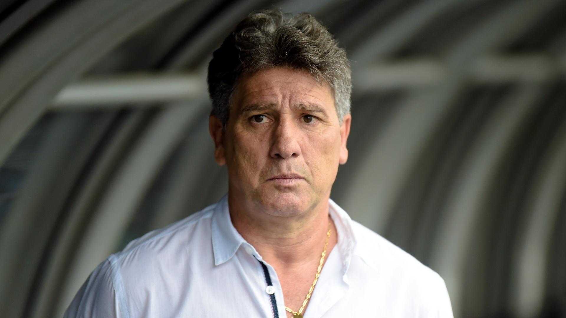 Renato Gaúcho, técnico do Grêmio, durante jogo contra o Fluminense