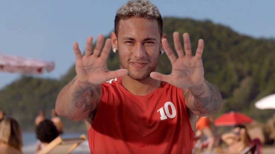 Neymar participou de campanha da cerveja Proibida veiculada durante a Copa do Mundo da Rússia, em 2018 - Reprodução/TV