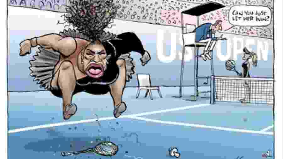Charge de Mark Knight em Serena Williams - ReproduçãoTwitter