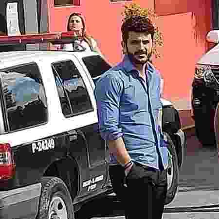 Estivens Alves, na delegacia de defesa da mulher  - Luiza Oliveira/UOL