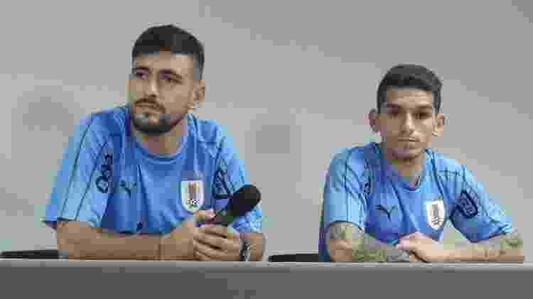 Arrascaeta concedeu entrevista ao lado do volante Lucas Torreira, do Arsenal - Gabriel Carneiro/UOL