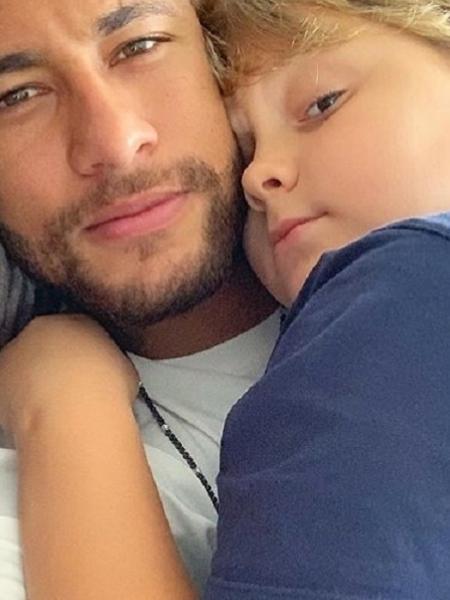 Neymar ao lado de Davi Lucca - Reprodução/Instagram