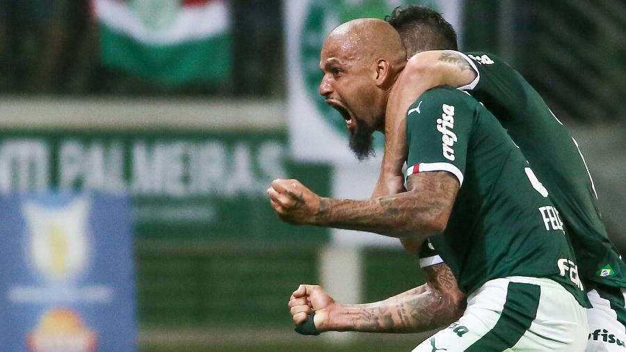 Felipe Melo comemora gol do Palmeiras contra a Chapecoense - Marcello Zambrana/AGIF