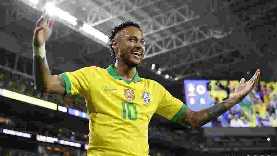 Neymar que conquistar a Copa América com a seleção brasileira - Michael Reaves/Getty Images/AFP
