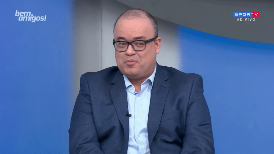 """Everaldo Marques é apresentado por Galvão Bueno no """"Bem, amigos!"""" - Reprodução"""