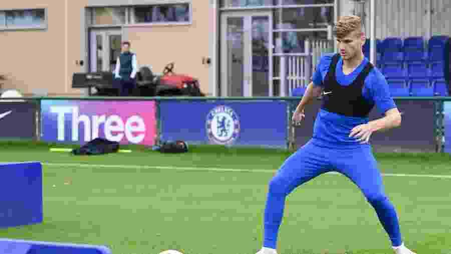 Timo Werner treina pela primeira vez no Chelsea, seu novo clube - D