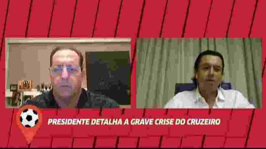 Presidente do Cruzeiro diz que já precisou auxiliar o clube financeiramente - Reprodução/Fox Sports