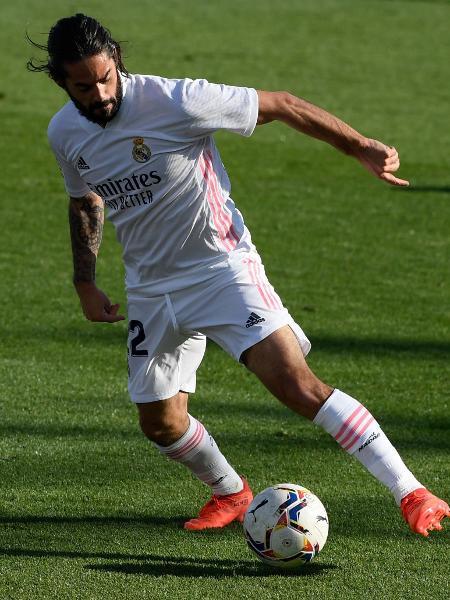 Isco, durante partida do Real Madrid - OSCAR DEL POZO / AFP