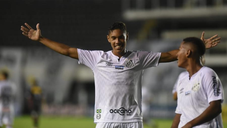 Vinicius Balieiro balançou as redes no jogo contra o Ituano - Ivan Storti/Santos FC