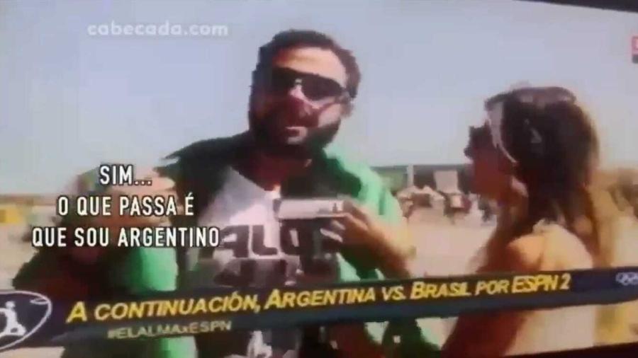Brasileiro se passa por Argentino na Rio 2016 - Reprodução
