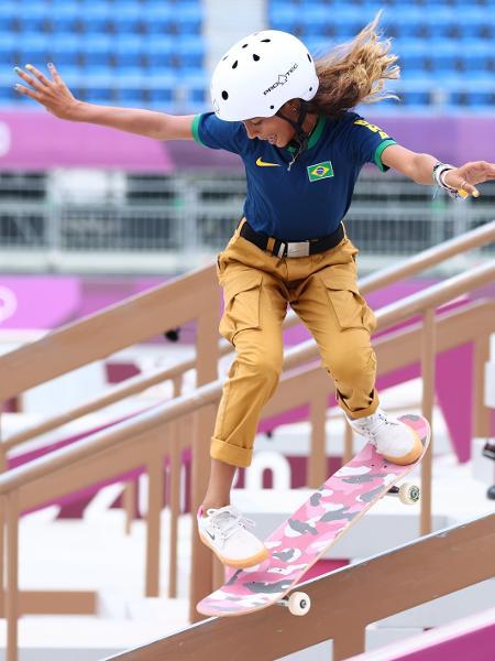 Rayssa Leal nas eliminatórias do skate nas Olimpíadas de Tóquio - LUCY NICHOLSON/REUTERS