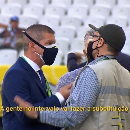 Membro da organização de Brasil x Argentina tentou impedir ação da Anvisa - Reprodução/SporTV