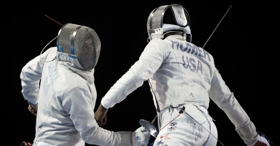 Brasileiro Renzo Agresta venceu Daryl Homer, dos Estados Unidos, nas quartas de final da esgrima