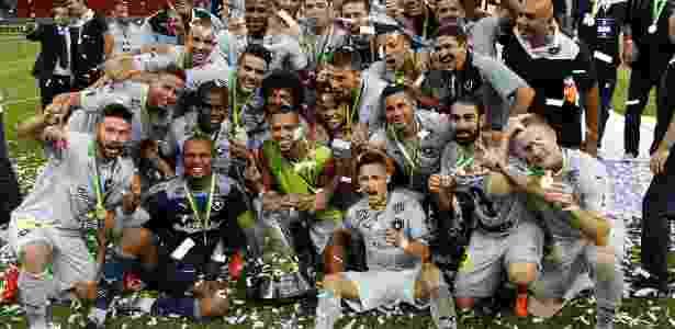 Jogadores do Botafogo comemoram o título da Série B após a vitória sobre o ABC - Vitor Silva/SS Press/Botafogo