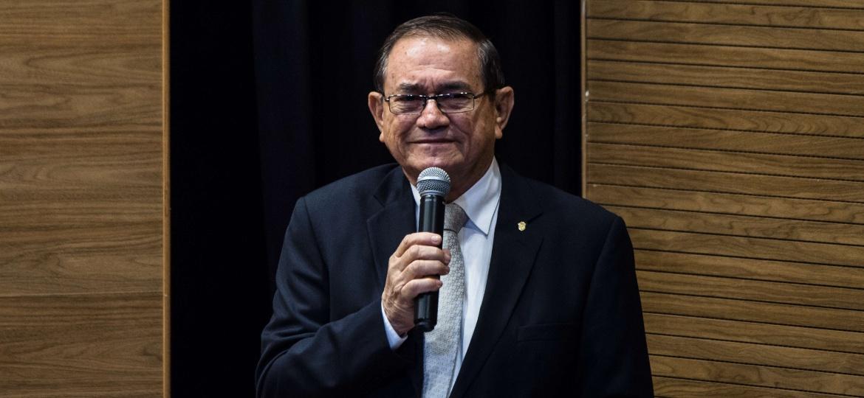 Presidente da CBF, Coronel Nunes foi colocado de lado na Rússia por conta do acúmulo de gafes - YASUYOSHI CHIBA/AFP