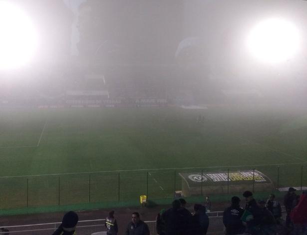 Neblina em Chapecó: condições climáticas atrapalharam voo do Atlético, com divergência sobre as razões - @ChapecoenseReal/Twitter