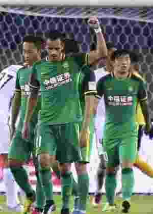Renato Augusto comemora após marcar pelo Beijing Guoan - Divulgação/Assessoria de imprensa