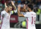 Em luta por vaga, Espanha e Itália vencem com golaços de D. Costa e Insigne - AFP PHOTO / Robert ATANASOVSKI