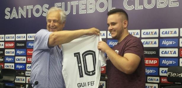 Santos contrata GuiFera, 18 anos, melhor jogador do mundo de PES