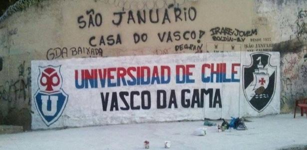 Muro em frente a São Januário celebra a amizade entre as torcidas de Vasco e La U