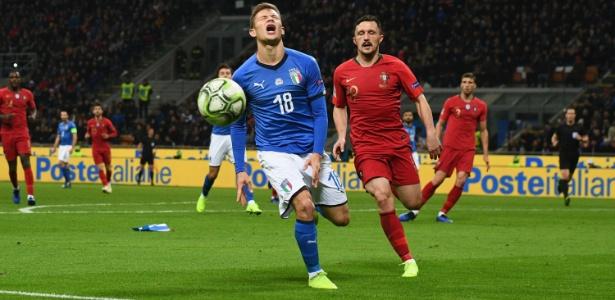 Itália ficou no 0 a 0 e acabou eliminada pelos portugueses na Liga das Nações - Claudio Villa/Getty Images