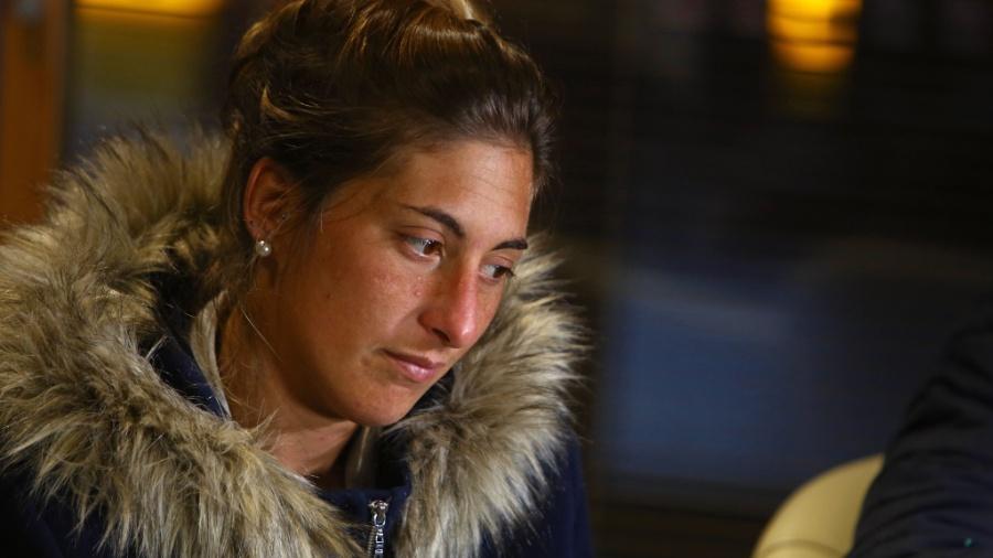 Irmã de Emiliano, Romina Sala está na França acompanhando o trabalho de buscas particular - Geoff Caddick/AFP