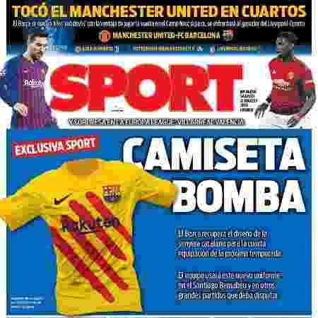 Jornal mostra nova camisa do Barcelona - Reprodução - Reprodução