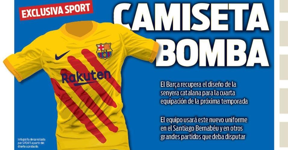 dbce2b9e1 Sport mostra nova camisa do Barcelona