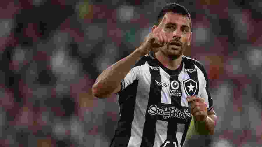 Diego Souza está entre os três maiores artilheiros do Brasileiro de pontos corridos com 101 gols - Foto: Vitor Silva/Botafogo