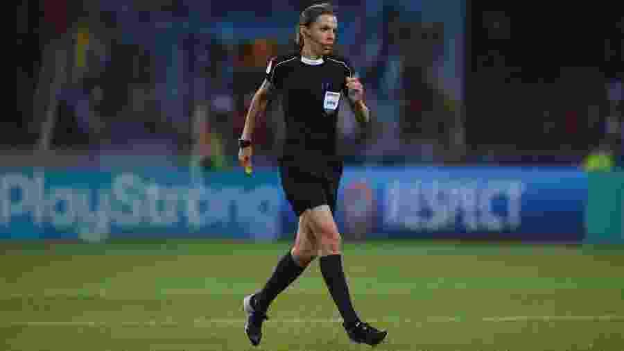 Stéphanie Frappart apitou a final da Copa do Mundo de futebol feminino deste ano - Brendan Moran / SPORTSFILE