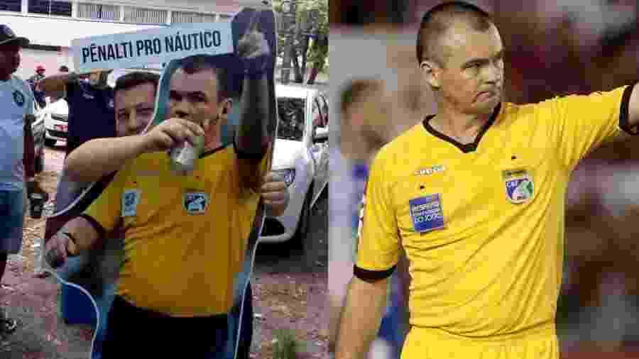 Torcida do Remo homenageia o árbitro Leandro Vuaden, que apitou Náutico x Paysandu pela Série C - Reprodução