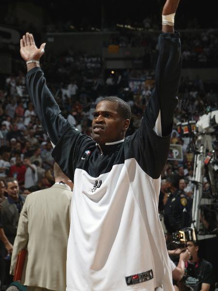 Stephen Jackson se sagrou campeão da NBA com o San Antonio Spurs em 2003 - Jesse D. Garrabrant/Getty Images