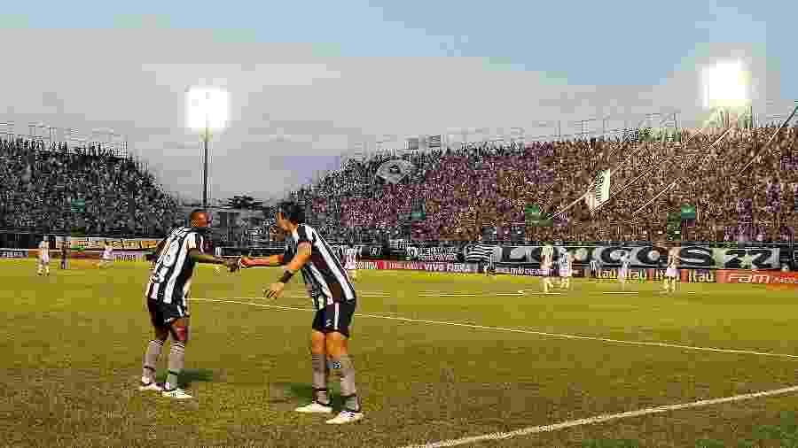 Jogadores do Botafogo celebram gol em partida na Arena Botafogo - Vitor Silva/SSPress/Botafogo