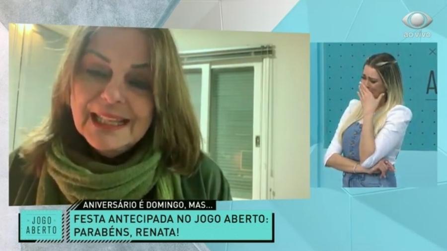 Renata Fan se emociona com recado da mãe no Jogo Aberto - Reprodução/Bandeirantes