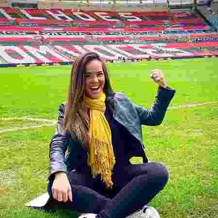 Isabele Benito no Maracanã para a transmissão do SBT na final do Carioca - Reprodução/Instagram