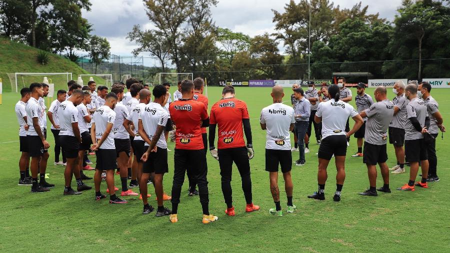Diretoria do Galo dará descanso aos titulares enquanto outros jogadores ficarão à disposição para o Mineiro - Pedro Souza/Atlético-MG