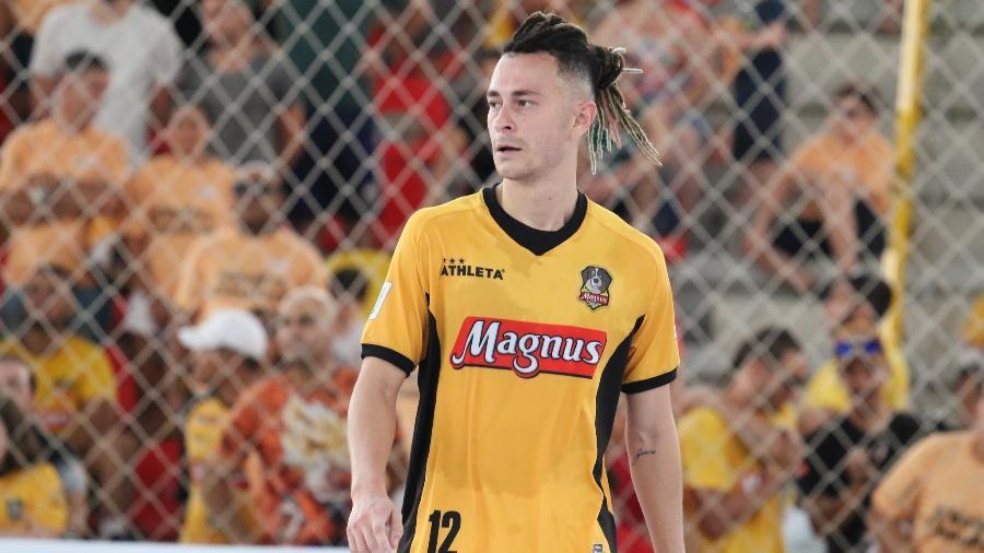 Youtuber Fred participou da pré-temporada e´de um torneio amistoso pelo Magnus Futsal em 2020 - Guilherme Mansueto