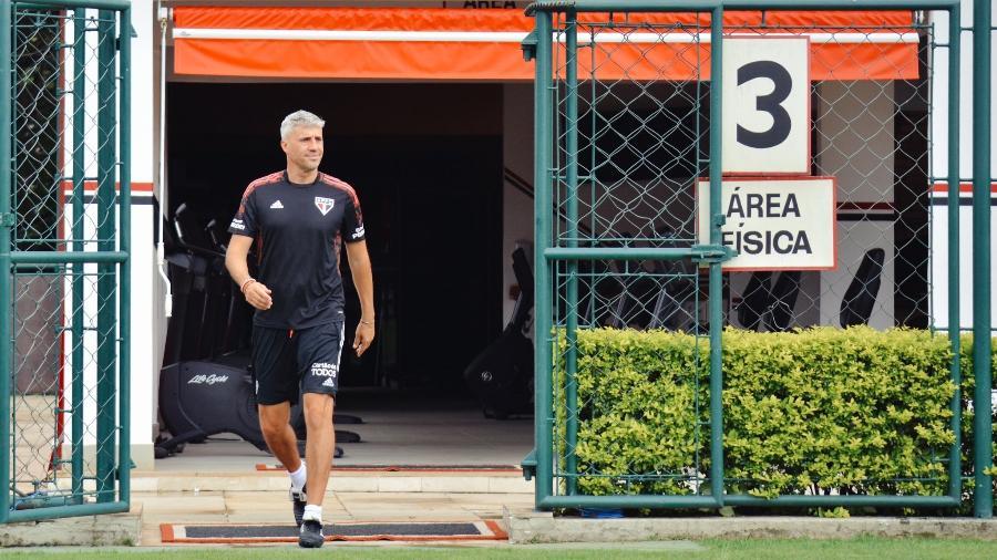 Hernán Crespo, técnico do São Paulo, no CT da Barra Funda - Fellipe Lucena/São Paulo FC