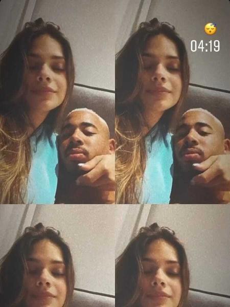 Gabriel Jesus e a nova namorada Raiane Lima - Reprodução
