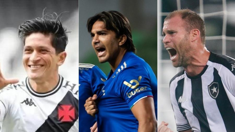 Cano, Marcelo Moreno e Joel Carli representam clubes de peso, mas que estão na Série B em 2021 - Vitor Silva, Bruno Haddad e Rafael Ribeiro