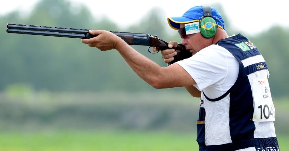Eduardo Correa terminou na 16ª colocação na fossa olímpica do tiro esportivo