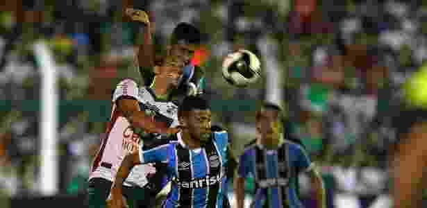 Bola aérea defensiva tem preocupado o Grêmio neste início de temporada -  LUCAS UEBEL/GREMIO FBPA