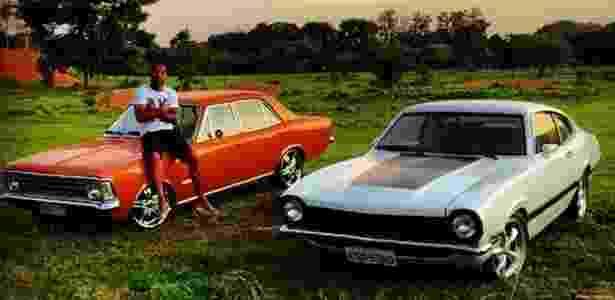 Dedé, zagueiro do Cruzeiro, desfila com carros antigos - Reprodução Instagram - Reprodução Instagram