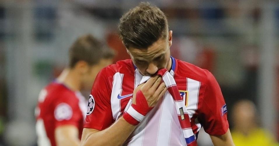 Griezmann se lamenta na final da Liga dos Campeões entre Real Madrid e Atlético de Madri
