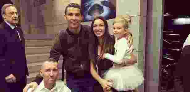 Cristiano Ronaldo encontra Fernando Ricksen e a sua família - Reprodução/Instagram