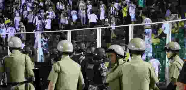 Policiamento em Figueirense x Grêmio - Foto: Luiz Henrique/FFC - Foto: Luiz Henrique/FFC