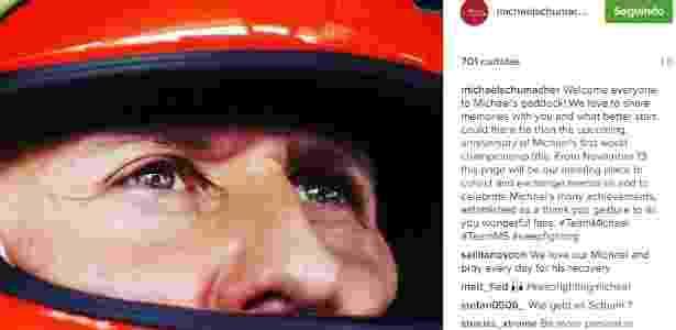 Schumacher - Reprodução/Instagram - Reprodução/Instagram