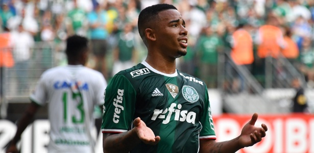 Gabriel Jesus fez sua despedida do Palmeiras contra a Chapecoense
